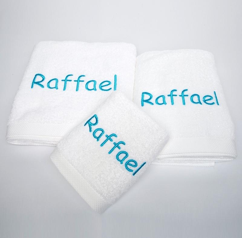 Privatkunden - Stickerei - Handtuch Raffael (weiß)